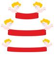 Cupid and red Ribbon Set Ribbon varying length vector image