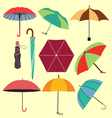 different fashion umbrellas in flat style vector image