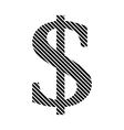 Dollar sign on white vector image