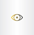 eye icon line design vector image