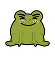 frog animal icon vector image