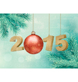 Happy new year 2015 New year design template vector image