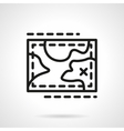 Hiking map simple line icon vector image