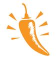 medium chilli vector image