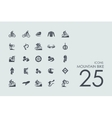 Set of mountain bike icons vector image