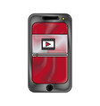 smartphone video play button app mobile vector image