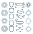 vintage sunburst frames ribbon banners and labels vector image