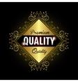 seal guaranteed premium quality gold vector image