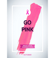 Breast Cancer Awareness Month Design Pink Brush vector image
