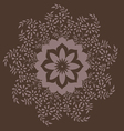 Ornamental round floral pattern with many details vector image vector image
