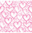 pink hearts seamless repeat pattern vector image