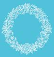 fine floral round frame decorative element vector image