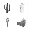 travel building and other monochrome icon in vector image