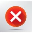X icon vector image vector image