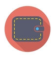 Purse flat icon vector image