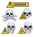 Signs of danger on white background vector image