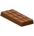 Milk chocolate bar on white vector image