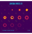Animation frames or energy explosion sprites vector image