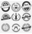 Beer labels or badges vector image
