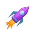 Cartoon rocket 3D vector image