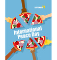 Day of Peace 21 September international holiday vector image