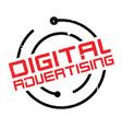 digital advertising rubber stamp vector image