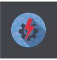 flat error icon on dark background vector image