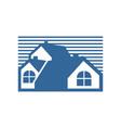 group house blue stripe vector image