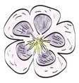 isolated vintage flower vector image