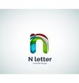Letter N logo vector image