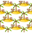 Monkey on island kid seamless pattern for vector image