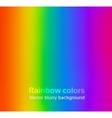 Rainbow blurred background vector image