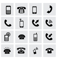 telephone icon set vector image