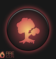 tree symbol icon nature sign vector image