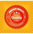 premium quality guaranteed orange sticker vector image