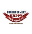 Independence day logo design usa flag vector image