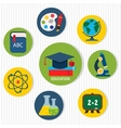 Flat Business Teamwork Icons Set vector image