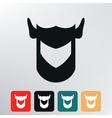 helmet knight icon vector image vector image