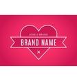Heart icon logo brand concept vector image