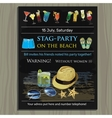 stag-party invite on the beach Holiday vacation vector image