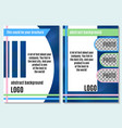 bright abstraction brochure on advertising with vector image