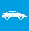 car icon white vector image