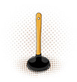 cartoon plunger icon with yellow handle vector image