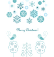 Christmas balls and snowflakes background vector image