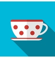 Cup on blue background icon vector image