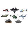 Different war transportations vector image