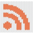knitted rss icon vector image