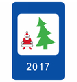 New year greeting card stylised as a road sign vector image
