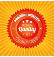 premium quality guaranteed orange sticker vector image