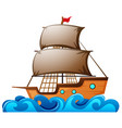 sailboat floating in the ocean vector image